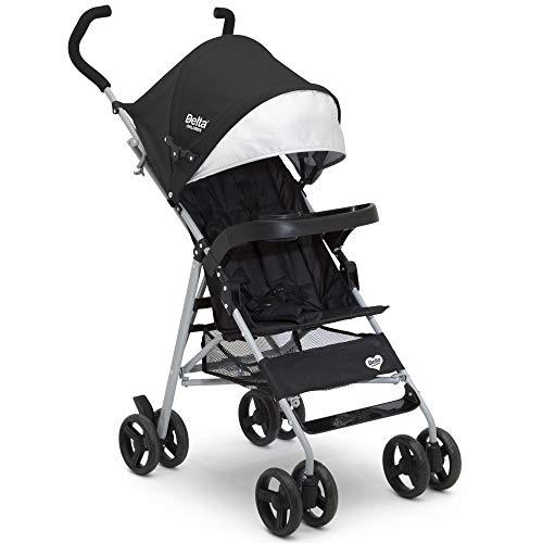 Delta Children 365 Lightweight Stroller - Extremely Lightweight Stroller - Weighs Only 12 Pound - Ideal for Travel or Everyday Use, Black
