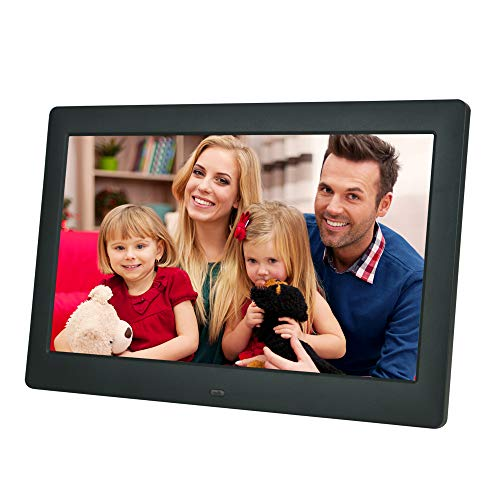 10 inch IPS 1080p Digital Photo/Picture Frame with Auto Slideshow Using USB Flash Drive & SD Card (not Included), Resolution 1280x800-16:9 Display ; Matte Black ; Gift for Parents Digital Frames Picture