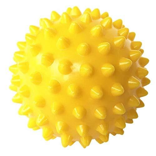 1yess Spiky Massage-Yoga-Kugel Triggerpunkt-Sport Fitness Hand-Fuß-Schmerz-Stress-Muskel-Relief Relax-Ball Gesunde Pflege Werkzeug (Color : Yellow)
