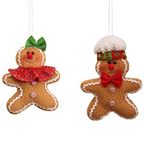 STOBOK 6 Stücke Lebkuchenmann Figur Weihnachtsbaum Anhänger Christbaumanhänger Baumschmuck Christbaumschmuck Weihnachtsfigur Weihnachtsdeko zum Aufhängen
