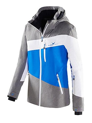 Black Crevice Damen Skijacke, Funktionsjacke, Color Blocking, grau meliert/blau/weiß, 40