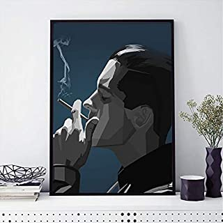 Mixi Art - G- Eazy Black Rapper Musician Rapper Poster Artwork WPAP Art Matte Paper Professional Wall Art Print Painting Home Decor, Birthday Gifts (Size 4: 24x36inch)