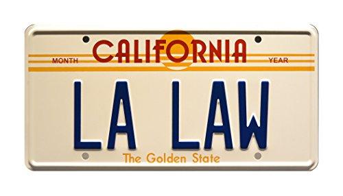 Celebrity Machines LA LAW   Metal Stamped License Plate