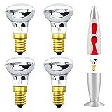 Klarlight 4-Pezzi Lava Lampadina E14 25W R39 SES Lampadina a Incandescenza, ricambio per l...