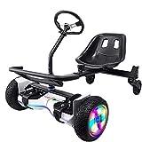 SCYMYBH Hoverboards Seat Regolabile Carrello a Cavallo per Scooter Auto-bilanciamento, per Attacco per Sedile da 6 Pollici, per trasformare Lo Scooter Hoverboard in Go-Kart