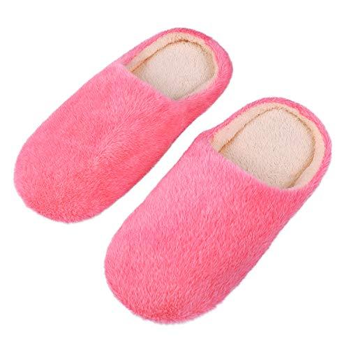 LUOEM Zapatillas de Estar por Casa Mujer Invierno Pantuflas...