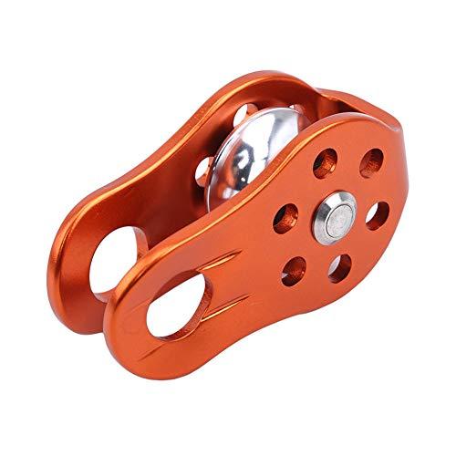 Ellepigy Outdoor Aluminium Kletterrolle Universal Metal Rescue Cord Riemenscheiben Zum Abseilen (Orange)