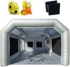 PeaceWin 20X13X10FT Inflatable Spray Paint Booth Tent with Upgrade High-Power Blowers 950W+450W, Professional Car Workstation Portable Auto Paint Booth with Filter System