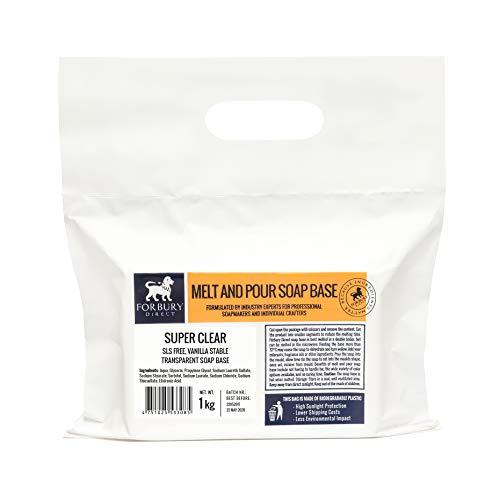 FORBURY DIRECT · ENGLAND · Base Jabón de glicerina transparente sin SLS, 1kg