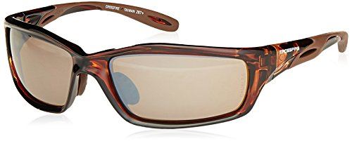 Crossfire 2117 Infinity Premium Safety Glasses, HD Brown Mirror Lens - Brown Frame