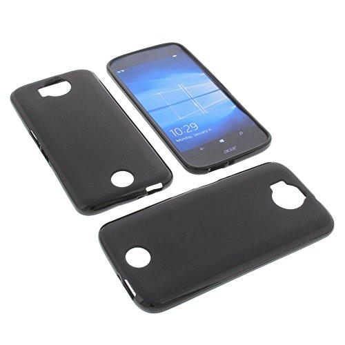 foto-kontor Tasche für Acer Liquid Jade Primo Gummi TPU Schutz Hülle Handytasche schwarz