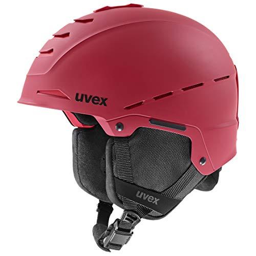 uvex Unisex– Erwachsene Legend pro Skihelm, oxy red mat, 55-59 cm