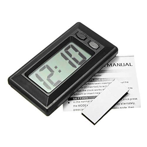 Novinex Ultra-Thin LCD Digital Display Car Vehicle Dashboard Clock with Calendar(Color:Black)