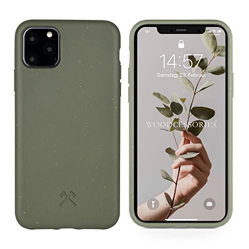 Woodcessories - Bio Hülle kompatibel mit iPhone 11 Pro Max - Nachhaltig, biologisch abbaubar - BioHülle Grün