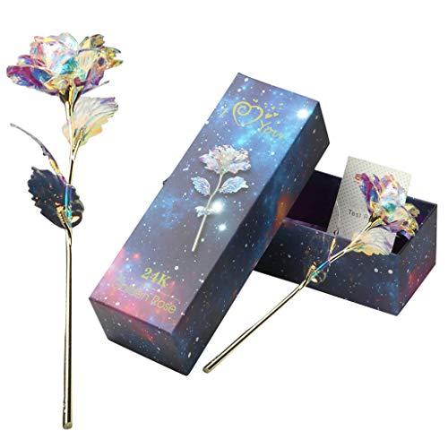 Tumao 24K Gold Rose, Regalos Creativos un Ramo Flores de Rosas de Lámina Oro, Cumpleaños, Día de San Valentín, Día de la Madre, Flor Artificial de Aniversario para Ella