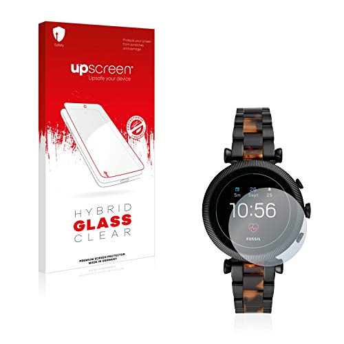 upscreen Hybrid Glass Panzerglas Schutzfolie kompatibel mit Fossil Sloan HR (4.Gen) 9H Panzerglas-Folie