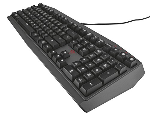 Trust GXT 880 USB Schwarz - Tastaturen (Standard, Verkabelt, USB, Mechanischer Switch, LED, Schwarz)