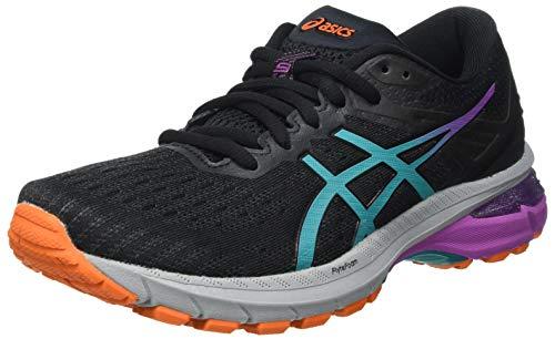 Asics GT-2000 9 Trail, Road Running Shoe Mujer, Black/Baltic Jewel, 43.5 EU