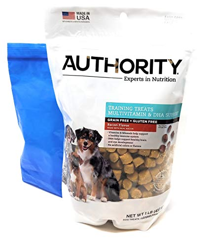 Tesadorz Bags and Authority Multivitamin and DHA Support Training Treats (Pack of 2) (Bacon)