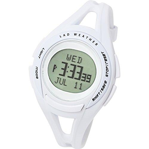 [ラドウェザー] スポーツウォッチ 超軽量31g 速度や距離 タイムが測れる腕時計 初心者に lad001 ホワイト
