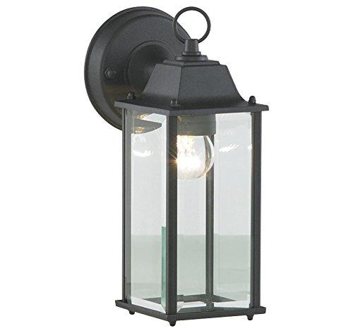 Bronte glazen lantaarn, afgeschuind, zwart
