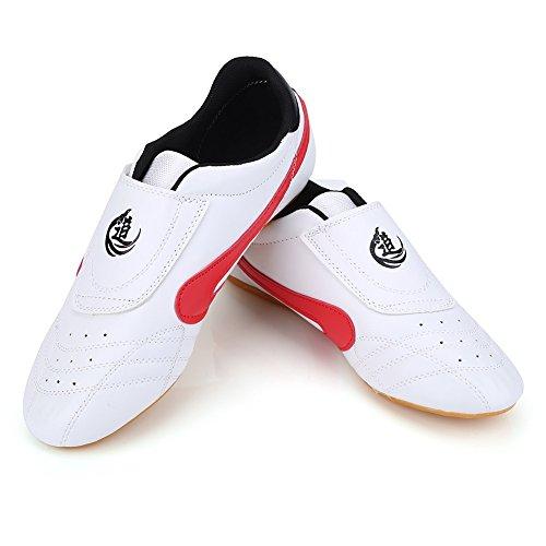VGEBY Taekwondo Schuhe, atmungsaktive Kung Fu Tai Chi Schuhe für Erwachsene und Kinder, Rot - rot - Größe: 37 EU