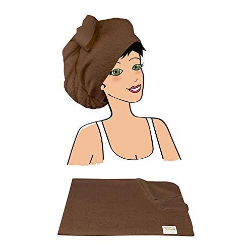 Les Tendances D'emma - Serviette A Cheveux Bambou Eco Belle Les Tendances D'emma - Chocolat