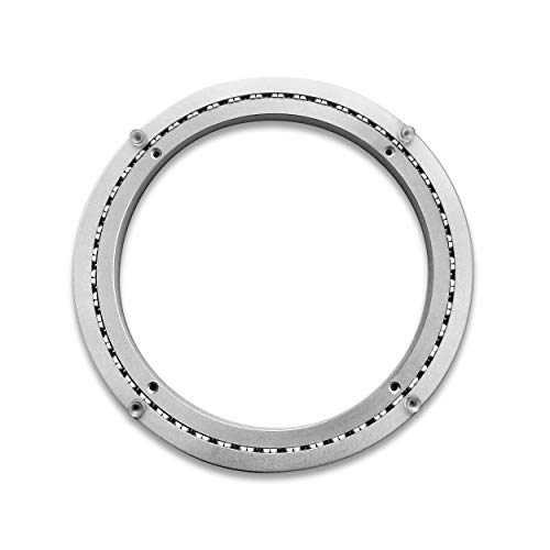 TROOPS BBQ Lazy Susan Turntable Ring - Heavy-Duty Aluminum Lazy Susan Bearing Hardware Single-Row Ball Bearings for Heavy Loads (300 lbs. Capacity) - 12 Inches