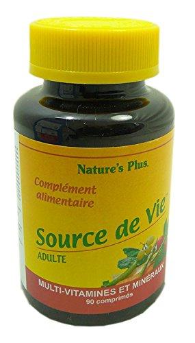 Nature s plus - Source de vie adulte - 90 comprimés - Multi-vitamines et minéraux pour vous revitali