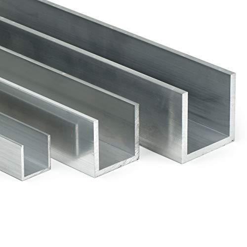 Aluminium U-Profil AlMgSi05 | BxHxS 25x25x2mm | L: 2000mm (200cm) auf Zuschnitt