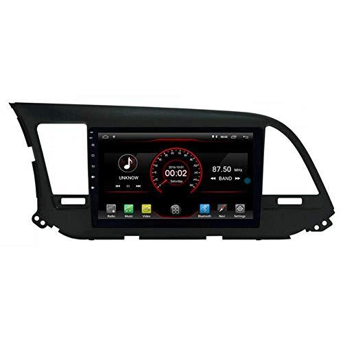 FWZJ Android 10 Car DVD Player GPS Stereo Head Unit Navi Radio Multimedia WiFi para Hyundai Elantra Avante 2016 2017 2018 Soporte Control del Volante