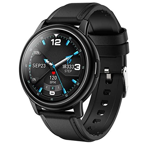 XQPK LF28 reloj inteligente hombres 2021 DIY reloj cara IP68 impermeable negocios smartwatch hombre para Android IOS 30 días de espera (A) (B)