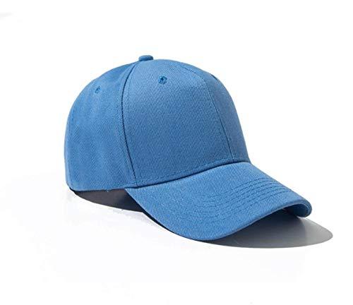 LIUBAOBEI Gorra Beisbol Hombre,Verano Otoño Moda Hombres Mujeres Gorra De Béisbol Sombrero De Adhesión Hiphop Ajustable Cool Sunhat Casquette Present-Sky_Blue_54Cm-60Cm