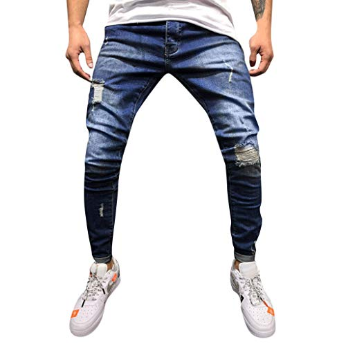 Writtian Jeans Hose Herren Jeans Cargohose Regular Skinny Fit Jeanshose Destroyed Stretch Chino Hose für Männer Regular fit Hellblau