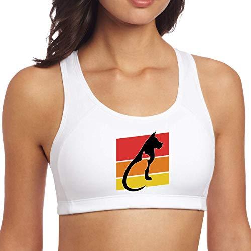 YBRB Sujetador de Yoga para Mujer, Gato y Perro