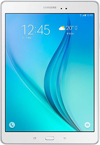 Samsung SM-T555NZWADBT Galaxy Tab A Tablet, Display 9.7', 4G/LTE, Processore Qualcomm Snapdragon, Memoria Interna 16 GB, Bianco