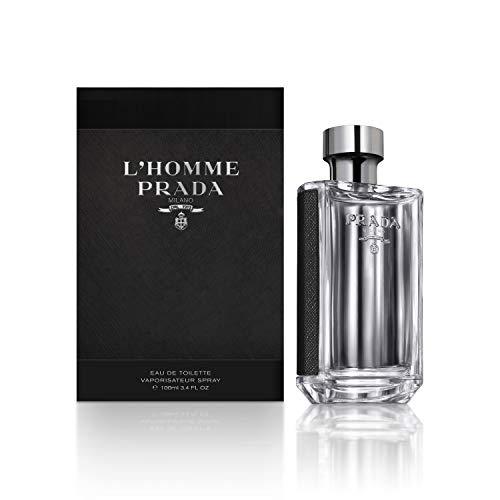 Prada L'Homme Eau De Toilette Spray, 3.4 Fluid Ounce