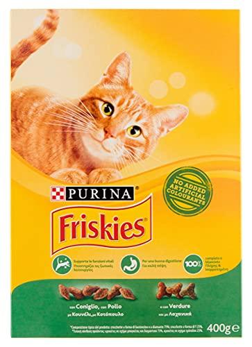 Set 20 FRISKIES 400 gr Seco Conejo-Pollo-Verduras Comida Para gatos