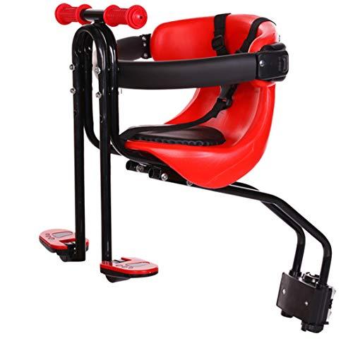 Sunbary Kindersitz Fahrrad Vorne, Abnehmbarer Fahrradsitz mit Handlauf für Kinder 2-4 Jahre,bis 50KG