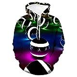 Sudadera con Capucha Unisex 3D de Forro Polar con Bolsillo de Canguro Billar Negro para Hombre Adolescentes Sweatshirt Hombre Mujer Sudadera con Capucha Casual Manga Larga Pullover