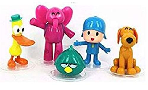 cvvbfgbfg Pocoyo 5 PCS Action Figures Ornament PVC Elly Pato Loula Cake Topper Playset Dolls Kids Toys