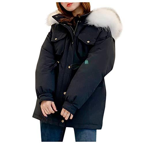 NUSGEAR Daunenjacke Damen Mantel Winter Jacke Ultraleicht Steppjacke Parka Outwear Daunenmantel Coat Warme Steppmantel Einfarbige gepolsterte Jacke mit langem Reißverschluss und Kapuze