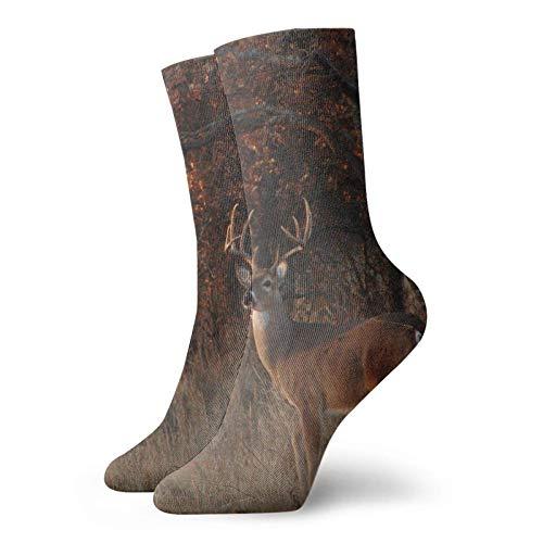 AEMAPE Forest Camo Cervus Nippon Sika Deer Calcetines Calcetines cortos deportivos clásicos de ocio adecuados para hombres y mujeres