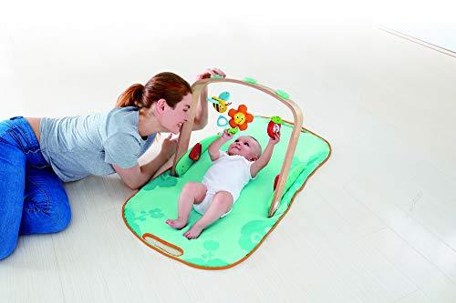 Hape-HAPE-E0045-Jeux d'éveil en Bois-Portique pour bébé Equipements Puericulture, E0045, Multicolore
