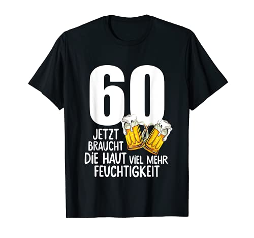 Herren 60. Geburtstag Männer Geschenk Bier Humor T-Shirt