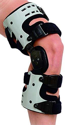 Superior Braces OA Unloader Knee Brace for Arthritis Pain, Osteoarthritis, Knee Joint Pain and Degeneration, Universal Size, Right Medial, Left Lateral, Gray & Black