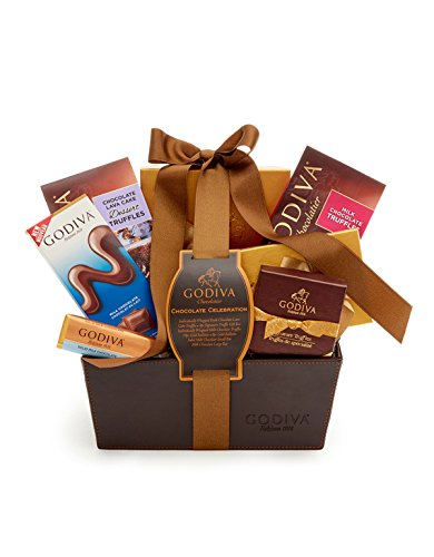 Godiva Chocolatier Classic Ribbon Chocolate Celebration Gift Basket, Great for Father's Day, Great for Gifting
