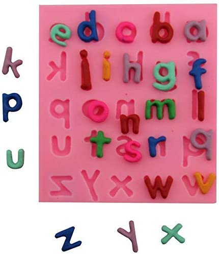 Alphabet Cartoon OFFicial store Small Letter Kid Silicone Birthday Now on sale Chocolat 3D