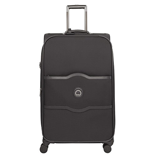 Delsey Chatelet Soft valigia a 4 ruote 77 cm nero