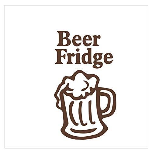 Cerveza Nevera Cocina Pegatinas De Pared Para Habitación Bar Nevera Divertidos Amantes De La Cerveza Decoración Pegatinas Para Ventanas Vinilo Extraíble Cocina Arte Calcomanías 32X57Cm